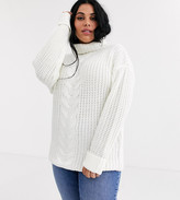 Brave Soul Plus anthom roll neck sweater