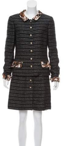 Chanel Tweed Three-Piece Skirt Suit