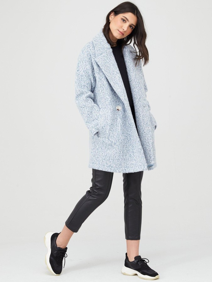 Thumbnail for your product : Very Double Breasted Relaxed Coat - Blue