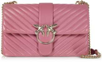 Pinko Love Classic Mix Quilted Nappa Leather Shoulder Bag