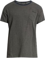 Longjourney Crew-neck patch-pocket cotton T-shirt