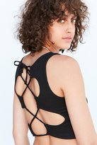 Silence & Noise Silence + Noise Leighton Lace-Up Back Tank Top