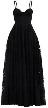 Emilia Wickstead Diamona Sweetheart-neckline Embroidered-lace Gown - Black
