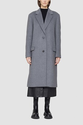 3.1 Phillip Lim Melton Wool Blend Oversized Coat