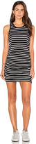 Sundry Striped Ruched Tank Dress