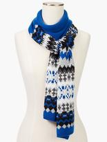 Talbots Bluesy Fair Isle Scarf