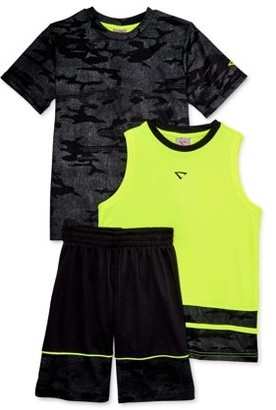 Cheetah Boys T-Shirt, Tank Top and Shorts Athletic Outfit Set, 3-Piece, Sizes 4-18