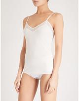 Sloggi S By S BY Ladies Angora Cream Silhouette V-Neck Stretch-Jersey Cami Top, Size: 34