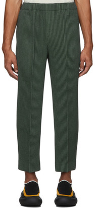Homme Plissé Issey Miyake Khaki Light Pleated Trousers