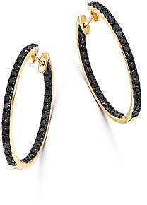Bloomingdale's Black Diamond Inside-Out Large Hoop Earrings in 14K Yellow Gold, 1.35 ct. t.w. - 100% Exclusive