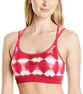 Jockey Women's Open Hole Tie Dye Seam Free Cami Strap Sport Bra