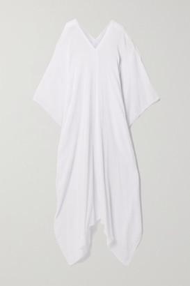 CARAVANA Net Sustain Koyok Frayed Cotton-gauze Kaftan - White