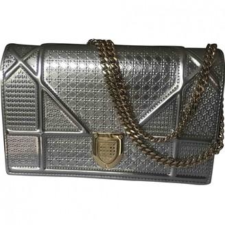 Christian Dior Diorama Silver Patent leather Handbags