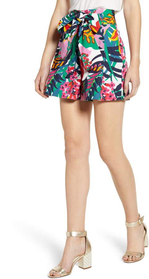J.Crew Festive Floral Paperbag Shorts
