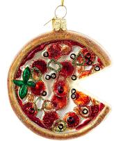 Kurt Adler 3.25'' Noble Gems Glass Pizza Ornament