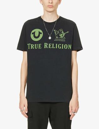 True Religion Logo print cotton-jersey T-shirt