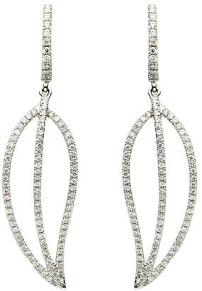 LeVian Suzy Diamonds Suzy 18K 0.56 Ct. Tw. Diamond Drop Feather Earrings