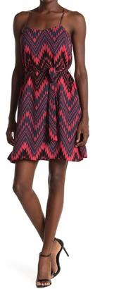 Collective Concepts Chevron Print Sleeveless Shift Dress