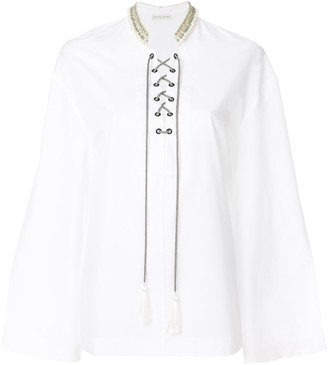 Etro Embellished Lace-Up Blouse