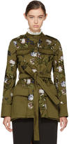 Erdem Green Battista Military Coat