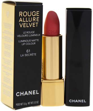 Chanel 0.12Oz #61 La Secrete Rouge Allure Velvet Luminous Matte Lip Colour