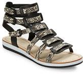 Elie Tahari Crete Snakeskin Sandals
