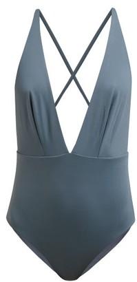 Skin - The Marina Tie-back Swimsuit - Womens - Grey