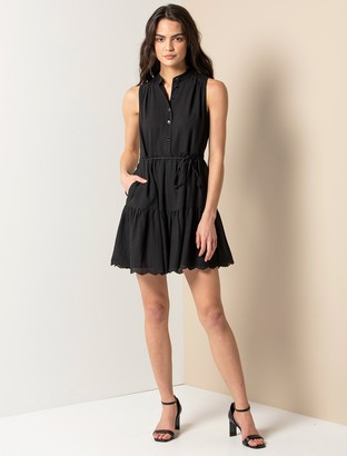 Forever New Alex Textured Smock Dress - Black - 12