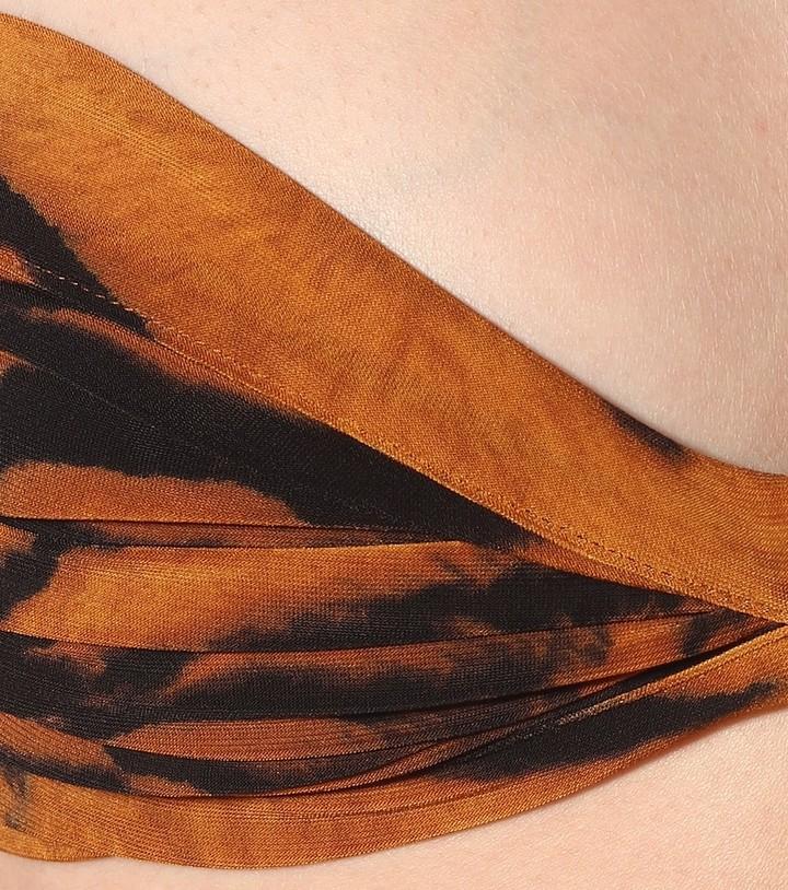 Thumbnail for your product : Norma Kamali Exclusive to Mytheresa Bill tiger-print bikini top