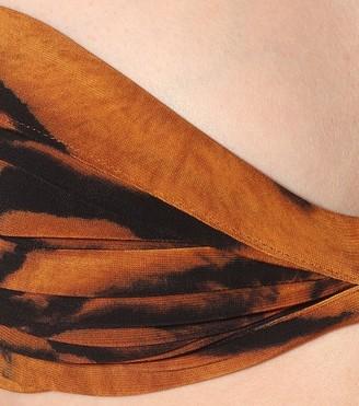 Norma Kamali Exclusive to Mytheresa a Bill tiger-print bikini top