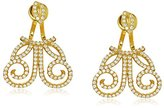 "Azaara Filigree"" Delicate with Clear Pave Cubic Zirconia Earrings Jackets"