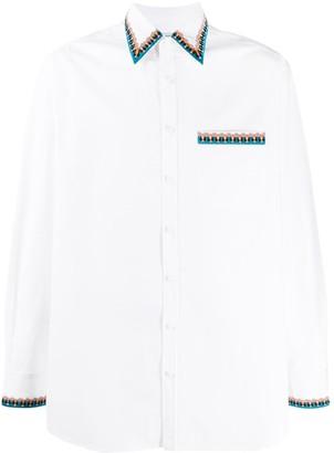 Valentino Embroidered Beaded Trim Shirt