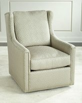 Massoud Braxton Swivel Chair, Beige