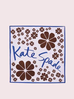 Kate Spade flowers silk scarf