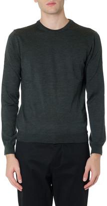 Grey Virgin Wool Knitwear