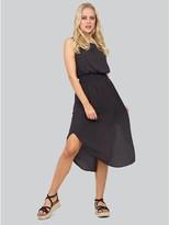 M&Co Izabel geo print shirred waist dress