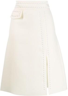 Giambattista Valli Stud-Embellished Midi Skirt