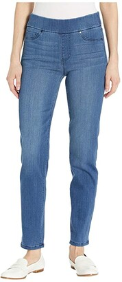 Liverpool Meredith Pull-On Ankle Slim in Silky Soft Denim in Harlow (Harlow) Women's Jeans