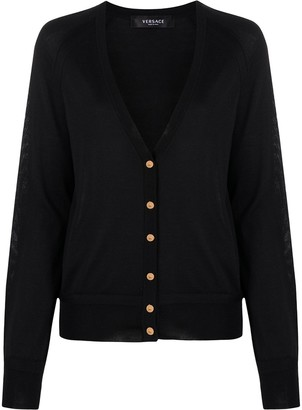 Versace Button-Front Cardigan