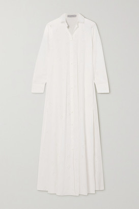 Palmer Harding Casablanca Broderie Anglaise Cotton-blend Poplin Maxi Shirt Dress - White
