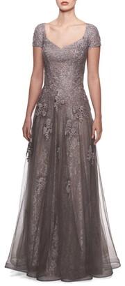 La Femme Tulle & Lace Gown