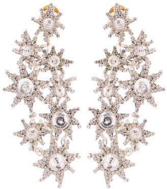 Oscar de la Renta Crystal-embellished drop earrings