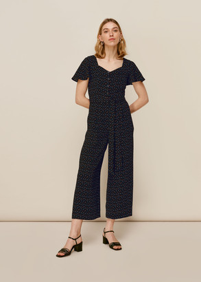 Micro Triangle Print Jumpsuit