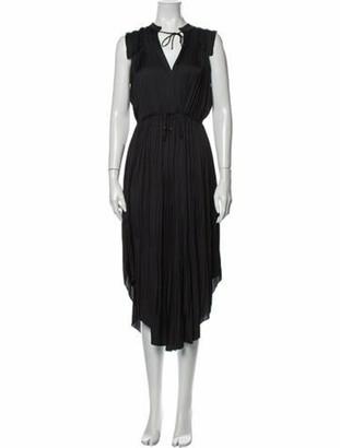 Ulla Johnson V-Neck Long Dress w/ Tags Black
