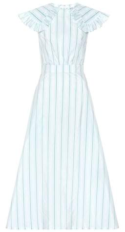 Calvin Klein Striped cotton and silk dress