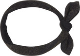 Scunci Headbands of Hope Black Tied Headwrap with Gold