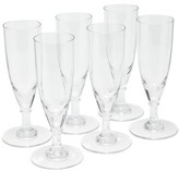 clear The Wolseley Collection - Set Of Six Crystal Champagne Flutes