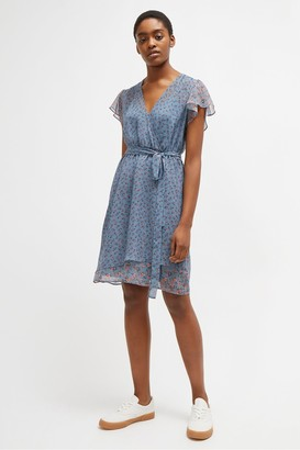 French Connection Celestia Sheer Wrap Dress