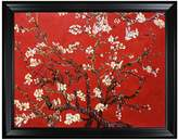 Branches of an Almond Tree in Blossom, Ruby Red - Framed Oil reproduction of an original painting by Vincent Van Gogh