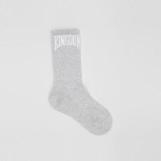 Burberry Kingdom Intarsia Cotton Bend Socks
